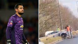 Doelman Man United komt met schrik vrij na crash met peperdure Lamborghini