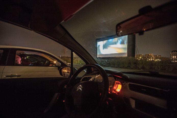 Drive-in bioscoop in 2018 bij de Cacaofabriek in Helmond.