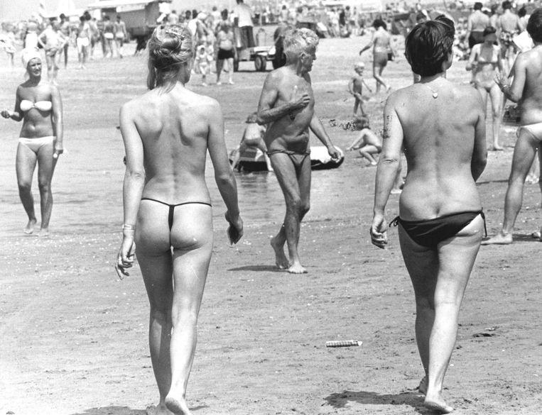 Het strand van Zandvoort in 1978. Beeld ANP