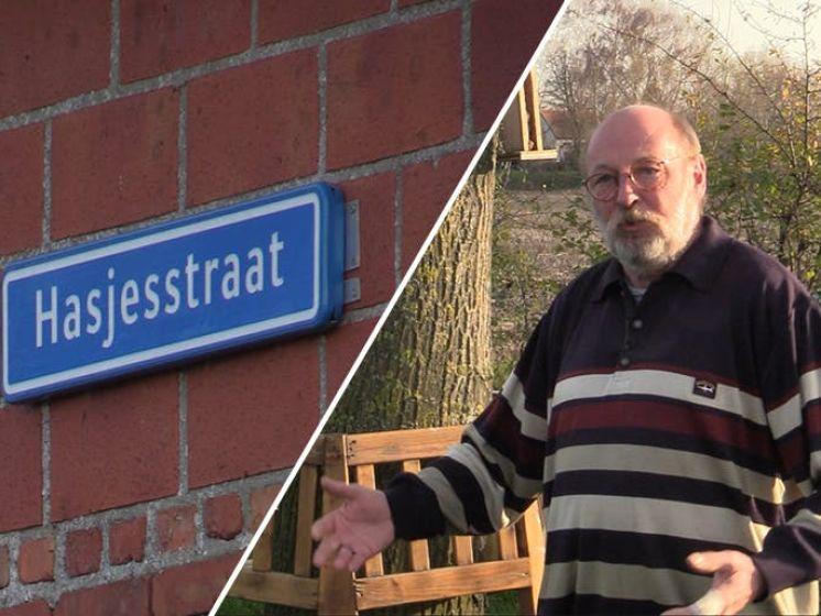 Hasjesstraat: om de haverklap was het naambordje weg