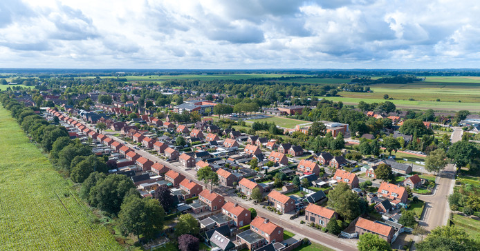 Westerhaar- Leegloop in de wijk de Oale Bouw in Westerhaar, die genomineerd staat om gerenoveerd te worden.