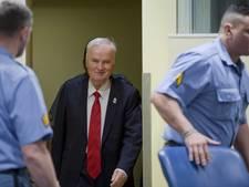 Boze Mladic uit zaal verwijderd na toiletbezoek en bloeddruktest