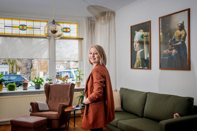 Anne Burghout slaagde met hulp van haar ouders in Rotterdam. Beeld Patrick Post