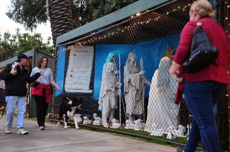 Een deel van de kerstshow in Santa Monica in 2011. Beeld afp
