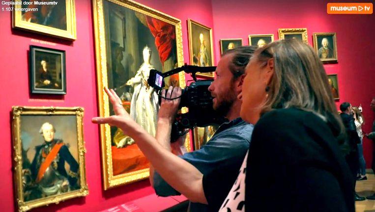 Opnamen voor MuseumTV Beeld .
