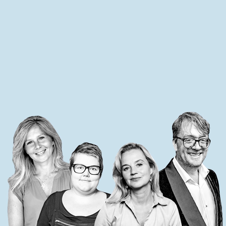 Van links naar rechts: Vala van den Boomen, Asha ten Broeke, Daniela Hooghiemstra en Jan Heemskerk.