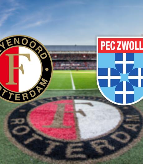 Feyenoord ontvangt PEC Zwolle in De Kuip