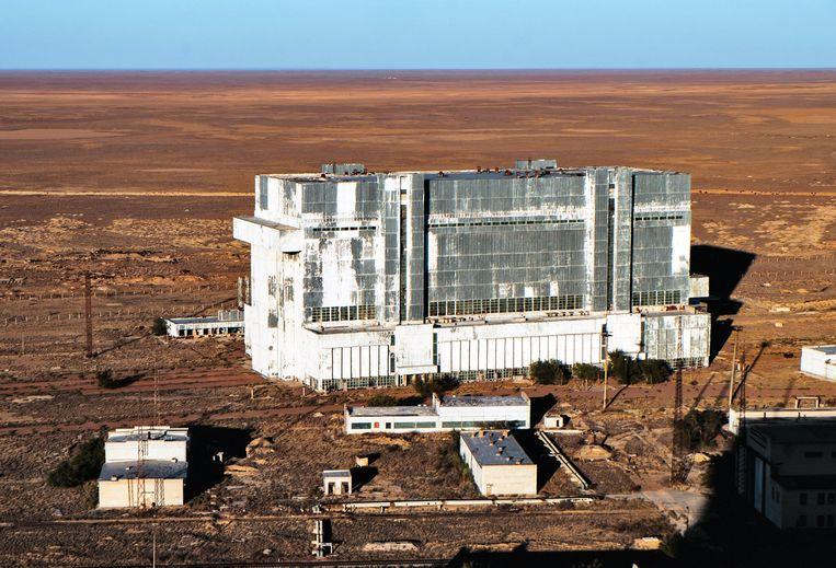 De Russische lanceerbasis in Bajkonoer in Kazachstan.