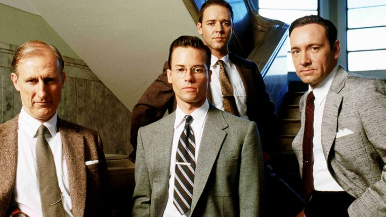 Guy Pearce met Kevin Spacey in 'L.A. Confidential'.