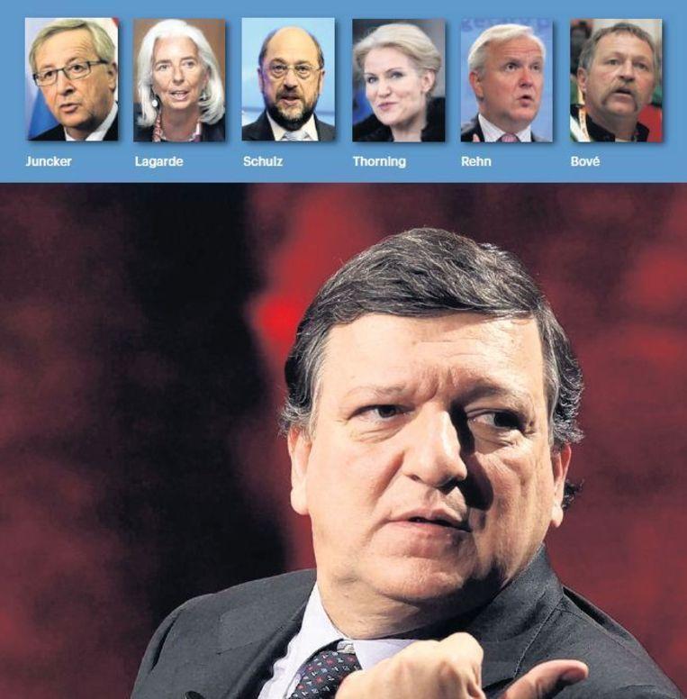 Scheidend voorzitter van de Europese Commissie José Manuel Barroso. Wie gaat hem opvolgen? Beeld anp