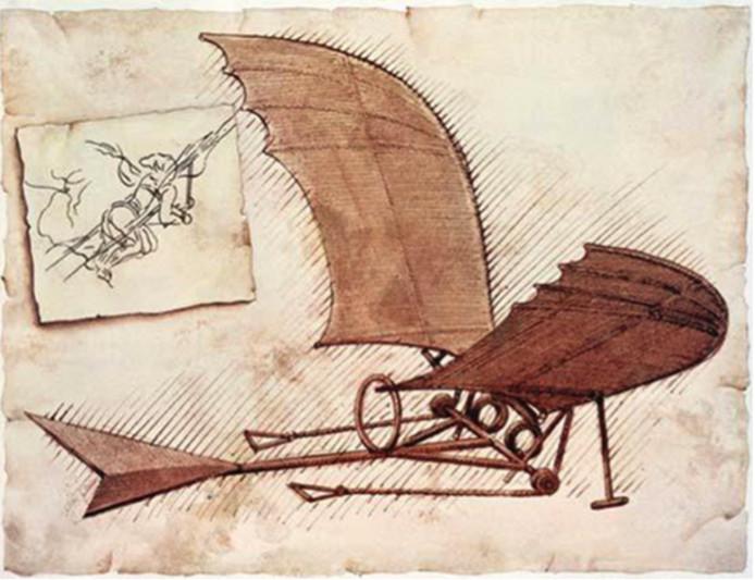 Ontwerp van een vliegtuig van Da Vinci