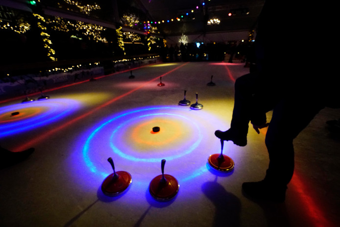 Curling bij Wijchen Schaatst.