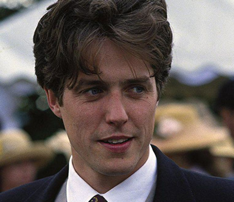 Hugh Grant in Four Weddings and a Funeral. Beeld