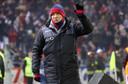 Sinisa Mihajlovic afgelopen zondag tijdens Bologna - AC Milan in het Stadio Renato Dall'Ara.