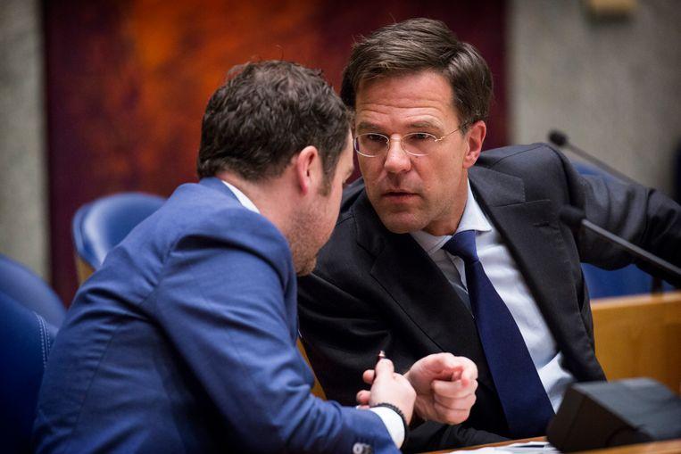 Klaas Dijkhoff en premier Mark Rutte. Beeld ANP