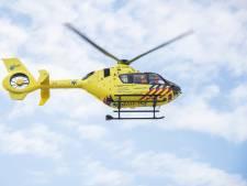 Traumahelikopter landt in Waddinxveen voor ongeval