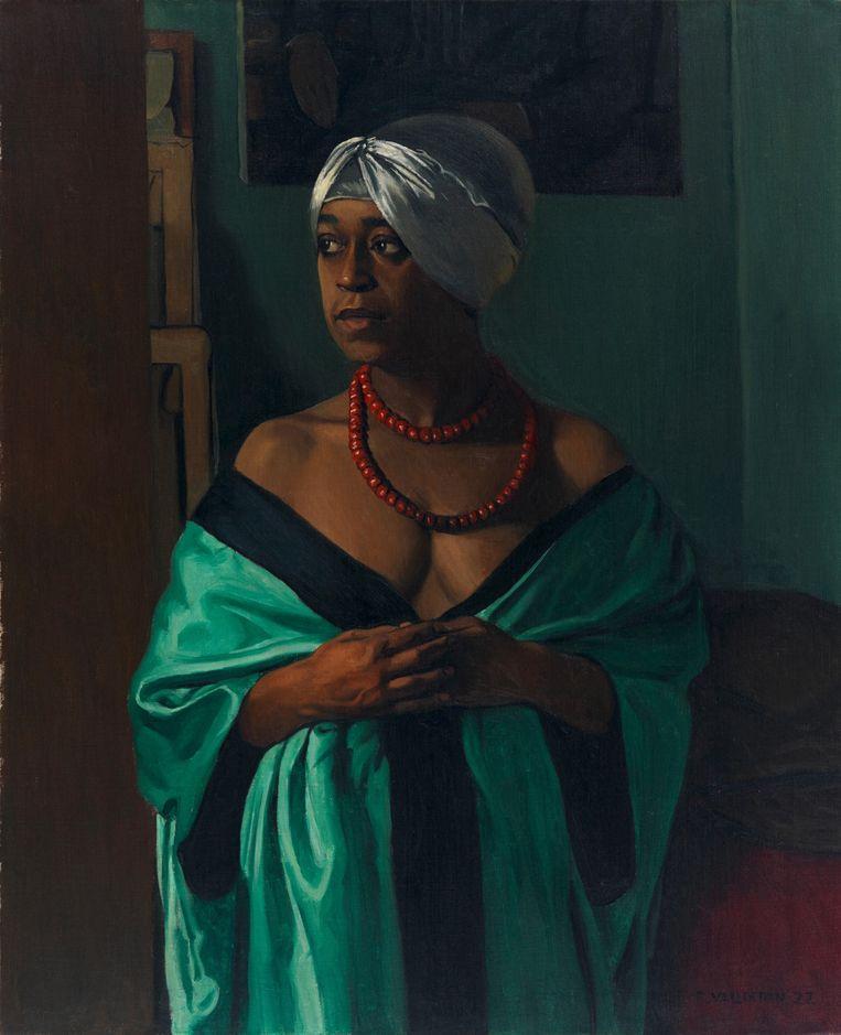 Aïcha, geschilderd door Félix Vallotton in 1922 Beeld Musée d'Orsay