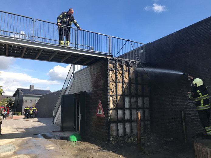 Brand bij school in Den Bosch