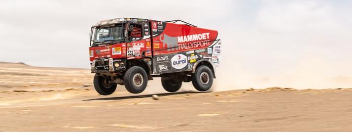 Janus van Kasteren in de Dakar Rally.