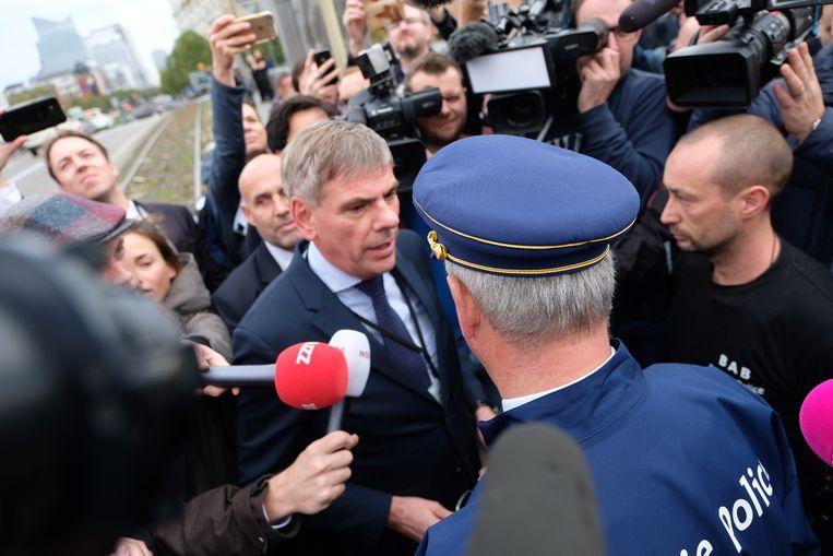 Filip Dewinter is aangekomen aan de grens van Molenbeek.