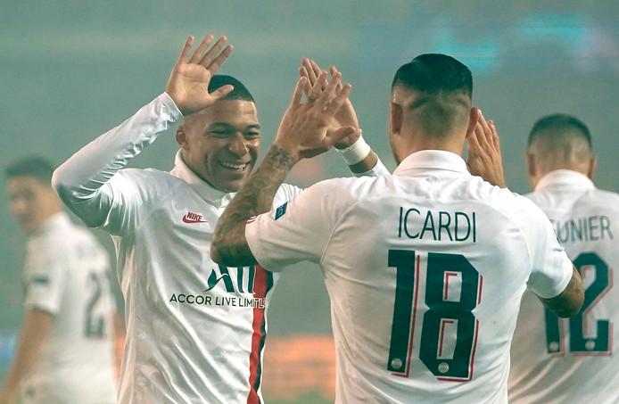Mauro Icardi et Kylian Mbappé ont inscrit les cinq buts du PSG face à Bruges
