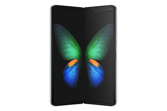 De Samsung Galaxy Fold in 'open' toestand.