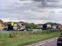 De n35 bij Wierden is afgesloten in verband met een ongeval