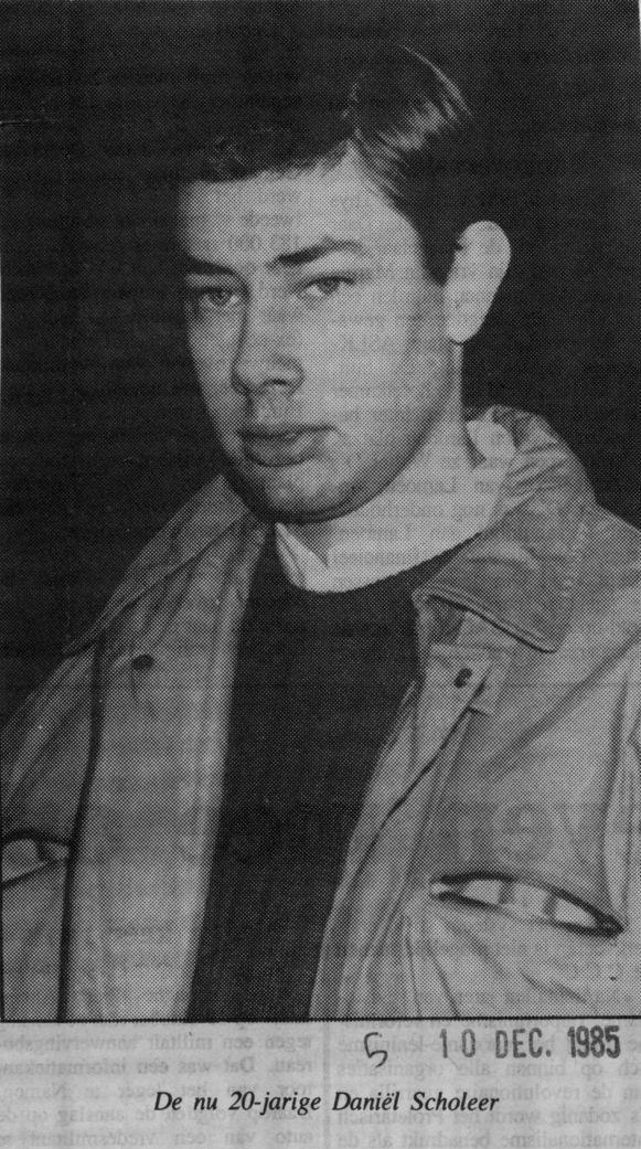 De toen 20-jarige Daniël Scholeer.