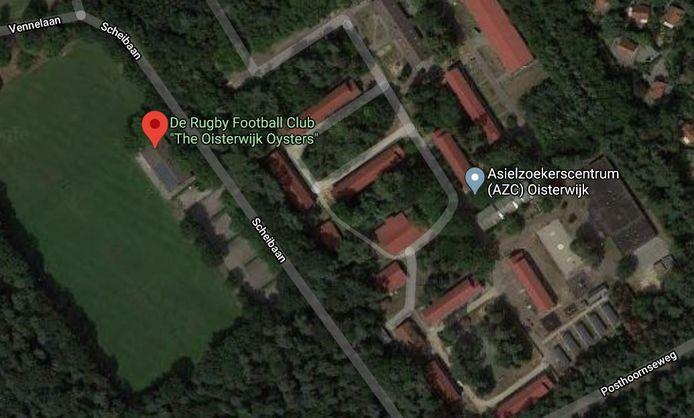 Rugbyclub Oisterwijk Oysters is de naaste buur van het asielzoekerscentrum aan de Scheibaan in Oisterwijk.