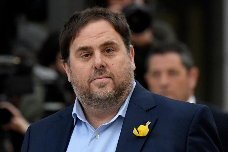 Oriol Junqueras. Beeld AFP