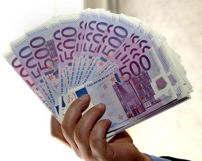 Biljetten van 500 euro. Foto ter illustratie.