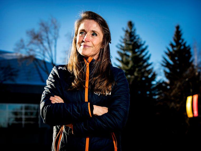 Yvonne van Gennip: 'Ik ben vereerd dat ik een steentje bijdraag bij het realiseren van dromen van talenten'. Beeld Hollandse Hoogte/ANP, Koen van Weel