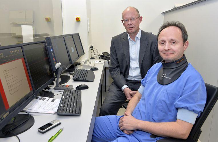 Gedelegeerd bestuurder Jo Leysen van Hartcentrum Kempen en medisch coördinator Herman Van der Stighelen.