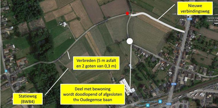 Van aan de Hofstraat richting Oudegemsebaan moet de Berkestraat verbreed worden tot vijf meter, met langs beide kanten weggoten. Ter hoogte van de scherpe bocht in de Berkestraat wordt de weg rechtgetrokken. In het bewoonde deel komt een knip tegen doorgaand verkeer.