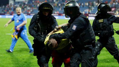 Meteen tumult in Nations League: oproerpolitie treedt op na winner in 93ste minuut