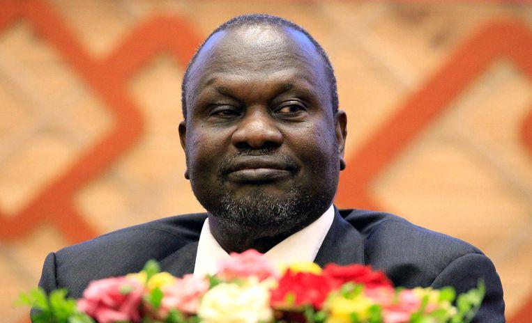 De Zuid-Soedanese rebellenleider Riek Machar.