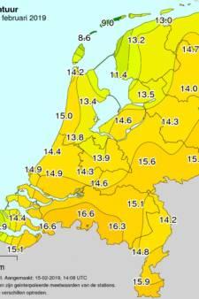 Eindhoven verliest warmterecord voor warmste 15 februari: 17 graden in Woensdrecht tegen 16,5 in Eindhoven