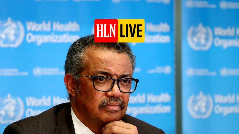 Tedros Adhanom Ghebreyesus, de algemeen directeur van de Wereldgezondheidsorganisatie WHO.