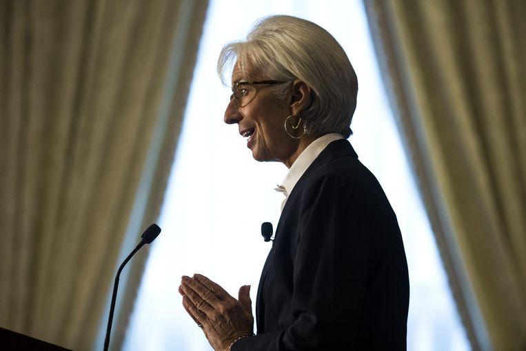 Christine Lagarde, topvrouw van het IMF. Beeld EPA