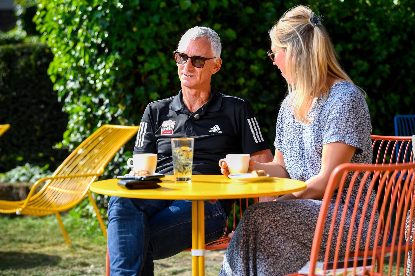 Peiper samen met zijn partner Katrien vandaag in Gent.