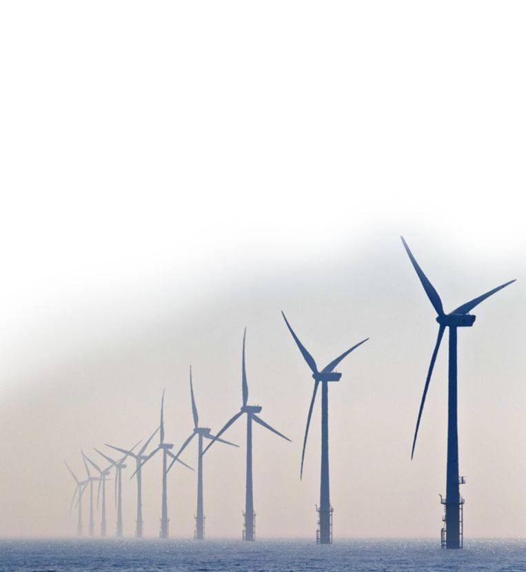 Windmolenpark voor de kust.  Beeld ANP XTRA