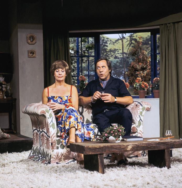Scène met Kitty Janssen en Piet Romer in 1978