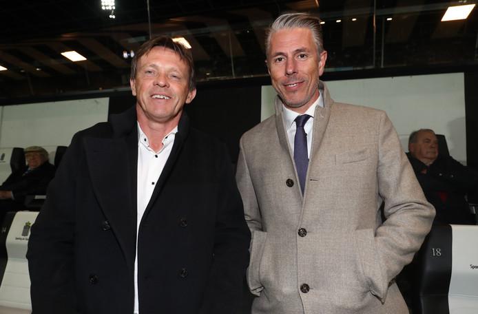 Anderlecht-coach Franky Vercauteren en Anderlecht-directeur Michael Verschueren zagen de Belgische recordkampioen vrijdagavond met 1-2 winnen bij Charleroi.