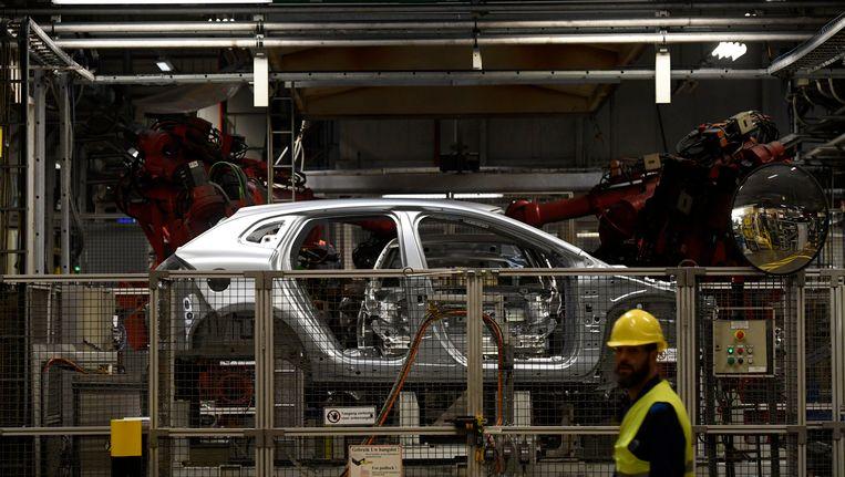 De Volvo-fabriek.