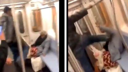 Man opgepakt nadat mishandeling van dakloze op metro in New York viraal gaat