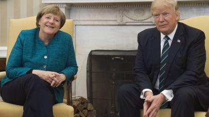 Merkel is in Washington aangekomen voor ontmoeting met Trump