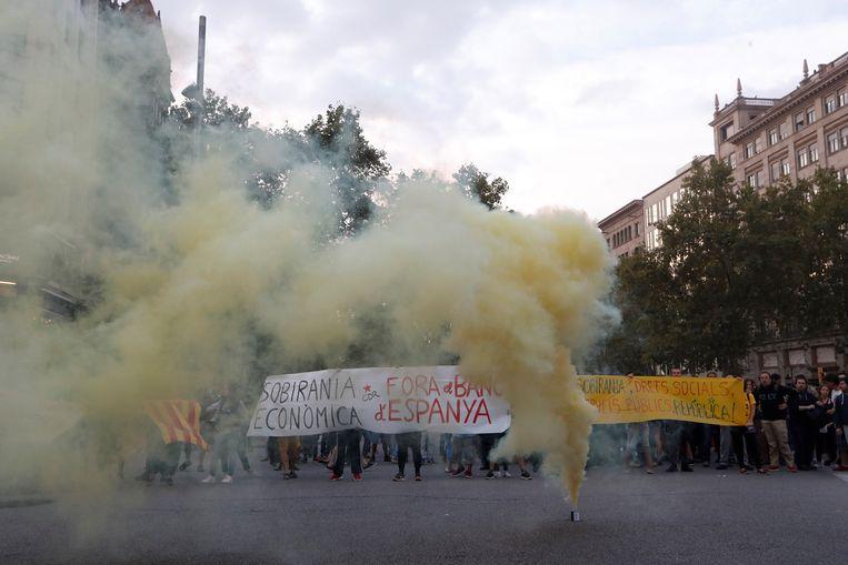 Protest in Barcelona.
