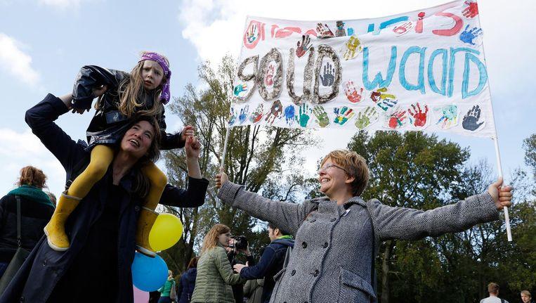 Basisschoolleerkrachten tijdens een eerdere staking in Den Haag. Beeld ANP