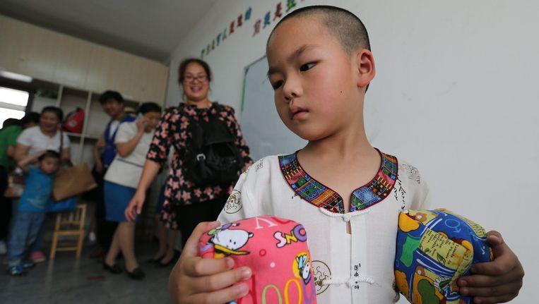 Een instituut voor autistische kinderen in Peking, China Beeld epa