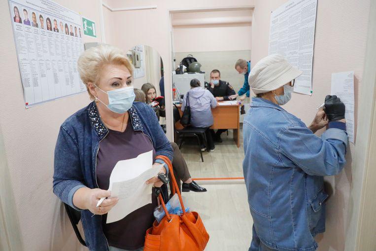 Vandaag gaan in 23 van de 85 provincies die Rusland telt inwoners naar de stembus. Beeld EPA